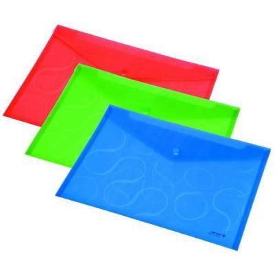 Папка-конверт OMEGA, ф. A4, прозрачная, цвет синий, материал полипропилен, плотность 200 мкр 0410-0031-03