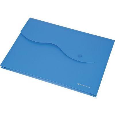 Папка на кнопке и липучке на 200 листов, ф. A4, цвет голубой, материал полипропилен 0410-0035-03