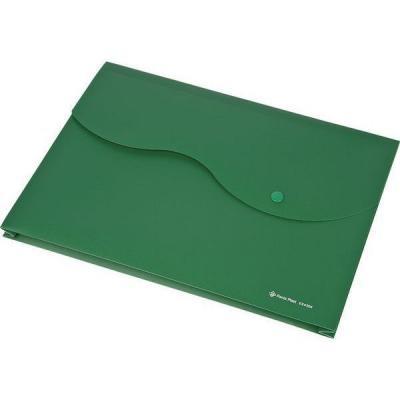 Папка на кнопке и липучке на 200 листов, ф. A4, цвет зеленый, материал полипропилен 0410-0035-04