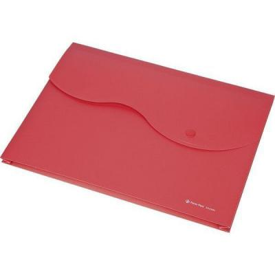 Папка на кнопке и липучке на 200 листов, ф. A4, цвет красный, материал полипропилен 0410-0035-05