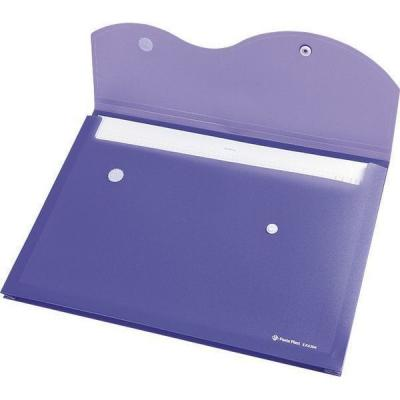 Папка на кнопке и липучке на 200 листов, ф. A4, цвет фиолетовый, материал полипропилен 0410-0035-15