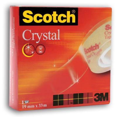 Лента канцелярская SCOTCH CRISTAL 600, прозрачная, 19 ммх33 м 600 3M 337149 лента канцелярская scotch прозрачная 19 ммх10 м 8 шт в уп 500 1910