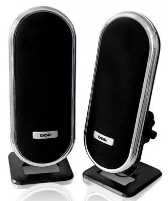 Колонки BBK CA-193S 2x3 Вт черно-серебристый