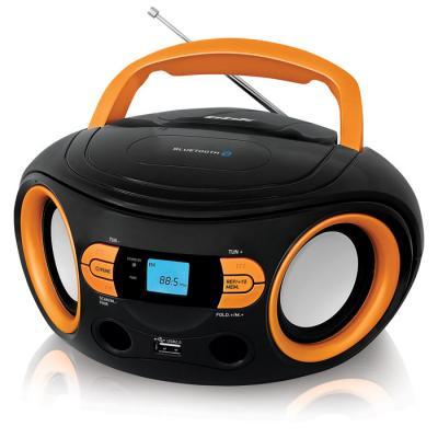 Магнитола BBK BS15BT черный оранжевый