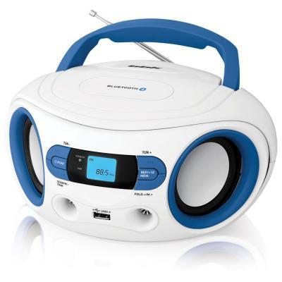 Магнитола BBK BS15BT белый голубой аудиомагнитола bbk bs15bt черный оранжевый bs15bt черный оранжевый