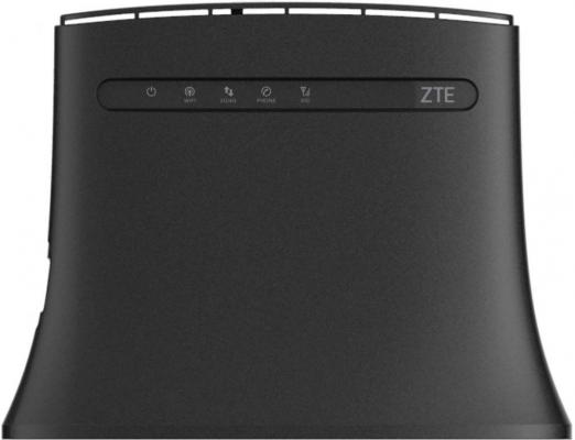 Беспроводной маршрутизатор ZTE MF283 802.11n 300Mbps 2.4 ГГц 4xLAN RJ11 черный беспроводной маршрутизатор zyxel nbg 418n v2 802 11bgn 300mbps 2 4 ггц 4xlan черный nbg 418nv2 eu0101f