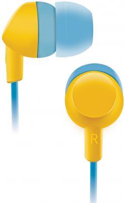 Наушники BBK EP-1420S голубой желтый