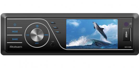 Автомагнитола Rolsen RCR-550B USB MP3 CD DVD FM SD MMC 1DIN 4x60Вт пульт ДУ черный