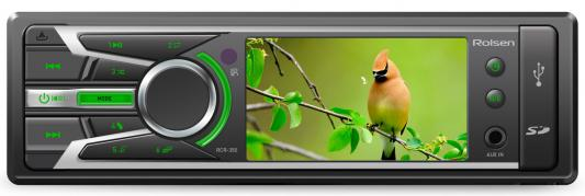 Автомагнитола Rolsen RCR-350G бездисковая USB MP3 FM SD MMC 1DIN 4x60Вт черный