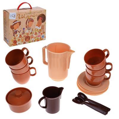 Набор посуды Росигрушка кофейный Шокко 2170 игрушки для зимы росигрушка песочный набор транспорт 3 л дорожный патруль