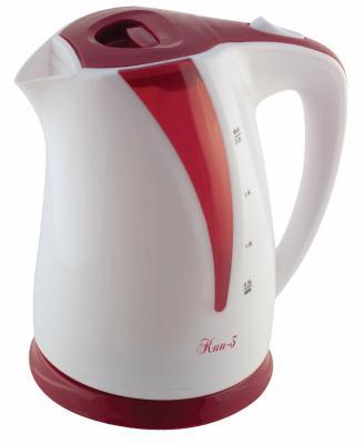 Чайник Великие реки Кип-3 1800 Вт белый красный 1.8 л пластик