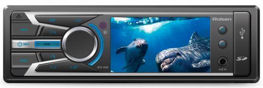 Автомагнитола Rolsen RCR-350B бездисковая USB MP3 FM SD MMC 1DIN 4x60Вт черный
