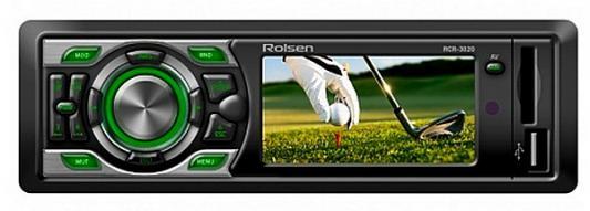 Автомагнитола Rolsen RCR-302R бездисковая USB MP3 FM SD MMC 1DIN 4x60Вт черный