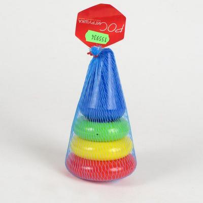 Пирамида Росигрушка Кнопка 14 см 5 элементов развивающие игрушки росигрушка набор клепа пирамида фигуры 16 деталей