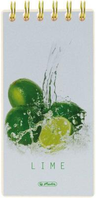 Блокнот Herlitz Fresh Fruit Lime 8.5x17 см 100 листов 11306263 11306263