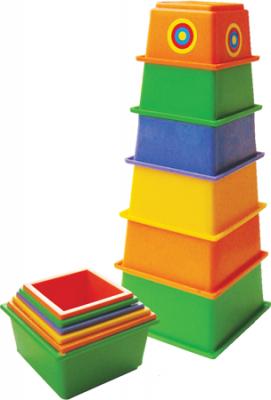 Пирамида ПЛЕЙДОРАДО пирамидка МАЯК 21 см 6 элементов 15012 краснокамская игрушка развивающая пирамидка кольцевая