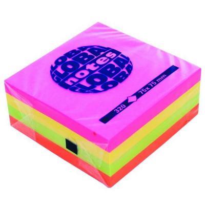 Бумага с липким слоем Global 320 листов 75х75 мм многоцветный 365439
