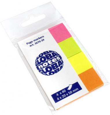Стикер Global 160 листов 20x50 мм многоцветный 367039