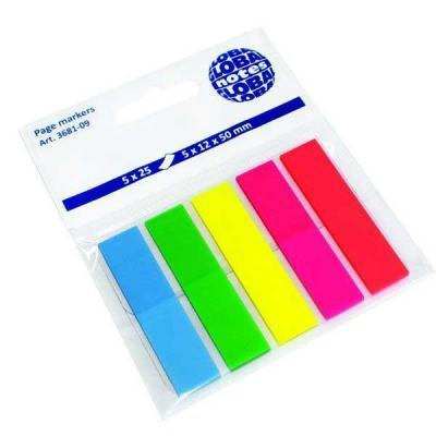 Бумага с липким слоем Global 125 листов 12х50 мм голубой зеленый желтый розовый красный 3681-09