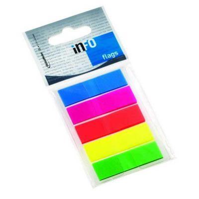 Бумага с липким слоем Global 26 листов 12,5х43 мм многоцветный