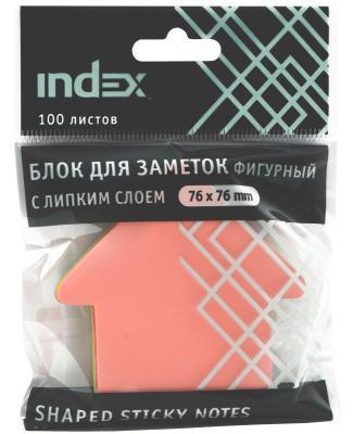 Бумага с липким слоем Index 100 листов 76x76 мм многоцветный бумага с липким слоем index 160 листов 12х44 мм многоцветный