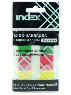 Стикер Index 60 листов 20х44 мм многоцветный I465810 фильм кадеты topic index