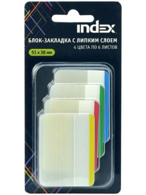 Стикер Index 24 листа 51х38 мм многоцветный I466810