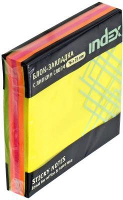 Бумага с липким слоем Index 150 листов 76x76 мм многоцветный РАДУГА I444810
