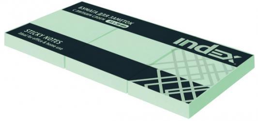 Бумага с липким слоем Index 100 листов 51х38 мм зеленый I431803