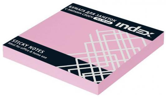 Купить Набор стикеров с липким слоем Index 100 листов 76x76 мм светло-розовый 92312576/I433804