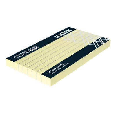 Бумага для заметок разлинованная с липким слоем, 100 листов, 127х75 мм, желтая I435808