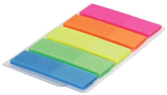 Бумага с липким слоем Index 125 листов 12х43 мм синий зеленый желтый оранжевый розовый