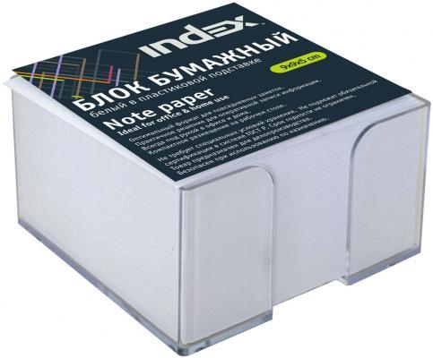 Блок бумажный Index 90х90х55 мм белый I9906/R