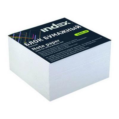 Блок бумажный Index 90х90х50 мм белый