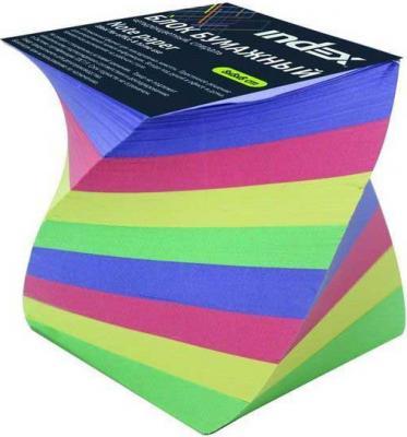 Блок бумажный Index 80х80х80 мм многоцветный IPC888cS