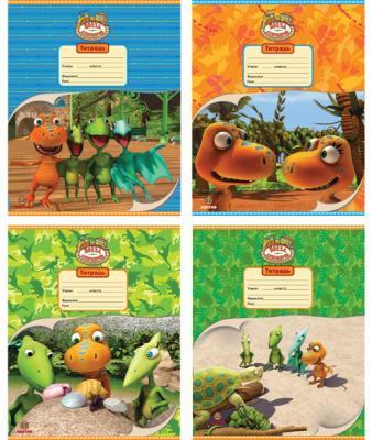 Тетрадь школьная Action! Поезд Динозавров 12 листов клетка скрепка DT-AN 1202/5 в ассортименте DT-AN 1202/5