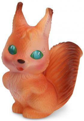 Купить Резиновая игрушка для ванны Огонек Белка Мариша 12 см С-349, рыжий, Игрушки для купания