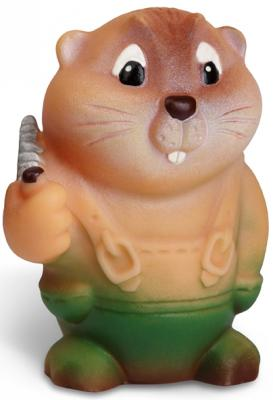 """Резиновая игрушка Огонек """"Бобр Лесоруб 10 см С-362"""
