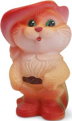Купить Резиновая игрушка для ванны Огонек Кот в сапогах 13 см С-432, бежевый, Игрушки для купания