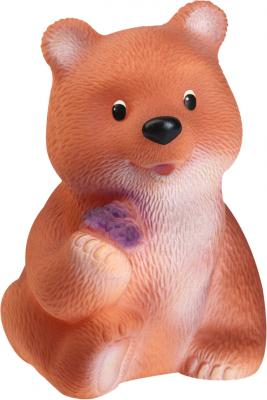 Купить Резиновая игрушка Огонек Медведь Топтыжка С-643 18 см в ассортименте, разноцветный, Игрушки для купания