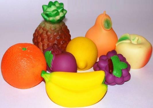 Купить Набор игрушек Огонек Фрукты, 8 предметов 10 см С-772, разноцветный, Игрушки для купания