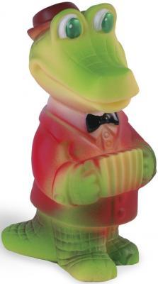 Резиновая игрушка для ванны Огонек Крокодил-гармонист 16 см С-1182