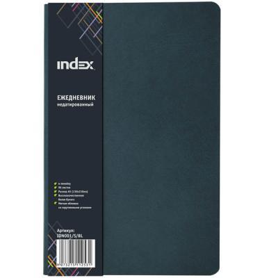 Ежедневник недатированный Index IDN001/S/BL A5 картон