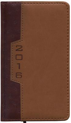Еженедельник датированный Index Desert A6 искусственная кожа IWD0516/A6/BR