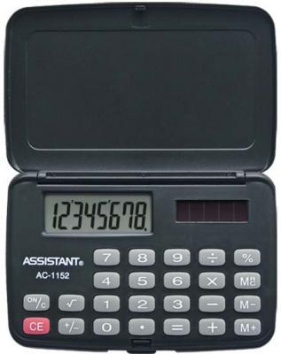 Калькулятор карманный Assistant AC-1152 8-разрядный  AC-1152