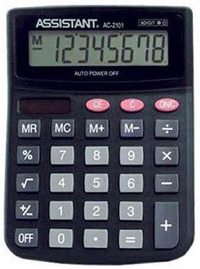 Калькулятор настольный Assistant AC-2101 8-разрядный AC-2101 ac contactor lc1f115d7 lc1 f115d7 42v lc1f115e7 lc1 f115e7 48v lc1f115f7 lc1 f115f7 110v lc1f115g7 lc1 f115g7 120v