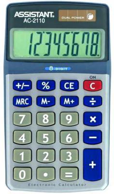 цена Калькулятор настольный Assistant AC-2110 8-разрядный AC-2110