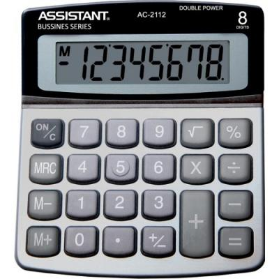 Калькулятор настольный Assistant AC-2112 8-разрядный серебристый