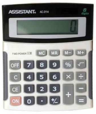 Калькулятор настольный Assistant AC-2114 8-разрядный AC-2114 фаркоп avtos на ваз 2108 2109 2113 2114 2016 тип крюка h г в н 750 50кг vaz 14