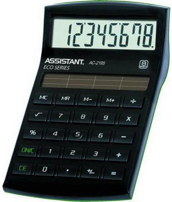 Калькулятор настольный Assistant AC-2195eco 8-разрядный AC-2195eco калькулятор assistant ac 2341 настольный в коробке
